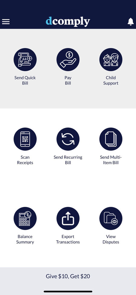 pay bills online DComply app